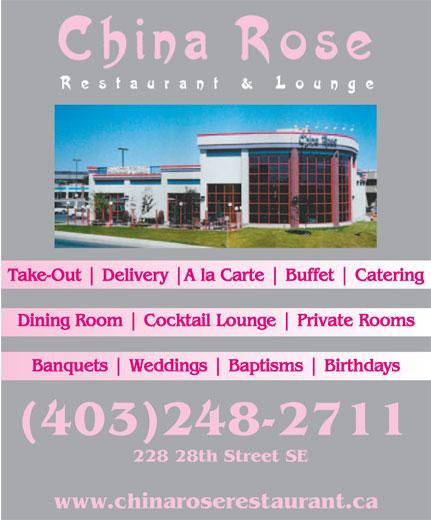 China Rose Restaurant (403-248-2711) - Display Ad -