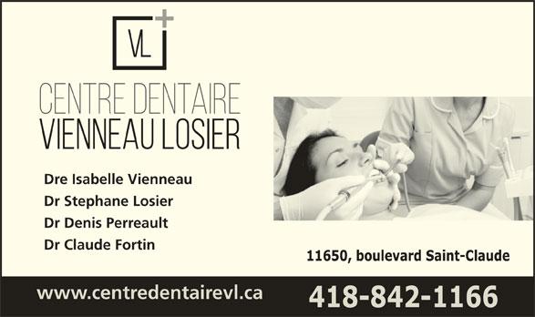 Centre Dentaire Vienneau-Losier (418-842-1166) - Annonce illustrée======= -
