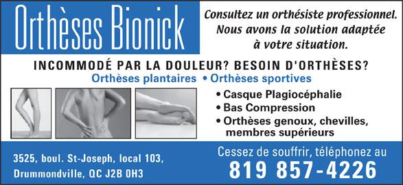 Ads Orthèses Bionick
