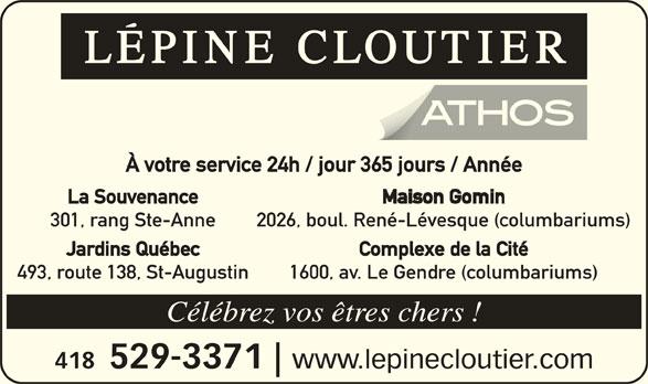 Lépine Cloutier-ATHOS (418-529-3371) - Annonce illustrée======= -