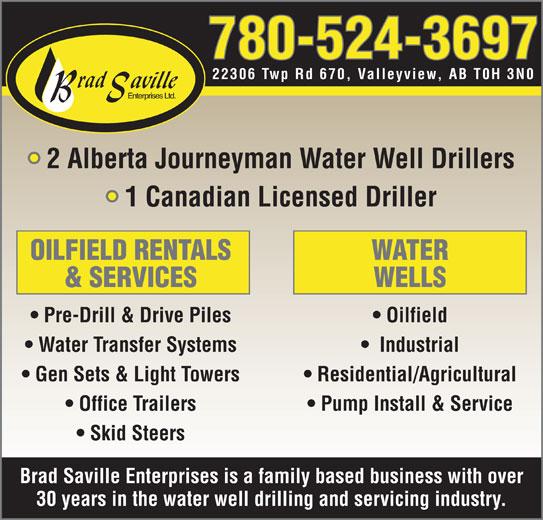 Ads Brad Saville Enterprises Ltd