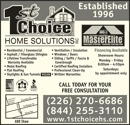 1st Choice Home Solutions Inc 22 70 Pacific Crt London On