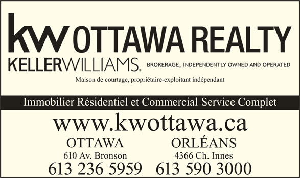 Keller Williams Realty Ottawa Realty (613-236-5959) - Display Ad -