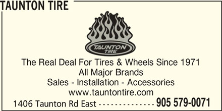 Taunton Tire (905-579-0071) - Display Ad -