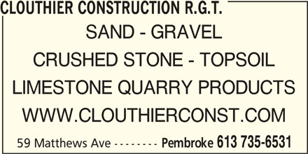 Ads Clouthier Construction R.G.T.