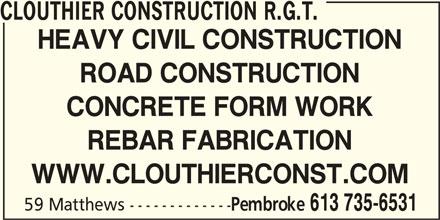 Ads Clouthier Construction R.G.T.
