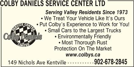 Colby Daniels Service Center Ltd (902-678-2845) - Annonce illustrée======= -