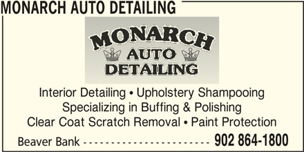 Monarch Auto Detailing (902-864-1800) - Display Ad -