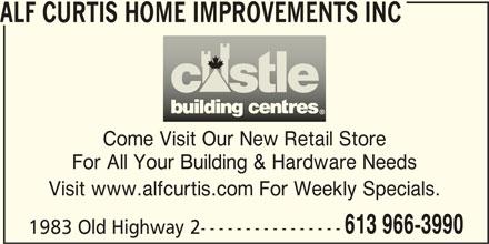 Alf Curtis Home Improvements Inc (613-966-3990) - Display Ad -