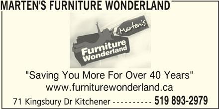 Marten S Furniture Wonderland Kitchener On