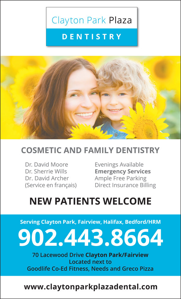 Clayton Park Plaza Dentistry (902-443-8664) - Display Ad -