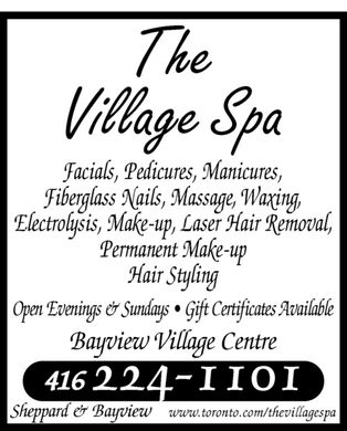 The Village Spa (416-224-1101) - Annonce illustrée