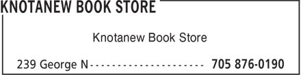Knotanew Book Store (705-876-0190) - Display Ad - Knotanew Book Store