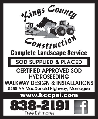 Kings County Construction Ltd (902-838-2191) - Display Ad