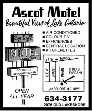 Ascot Motel (905-634-3177) - Display Ad
