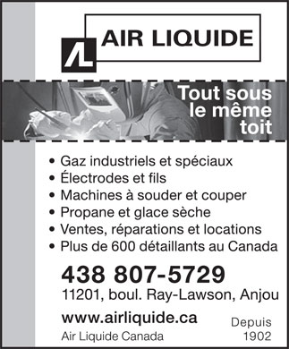 Air Liquide Canada (514-356-7600) - Display Ad