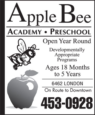 Apple Bee Academy (902-453-0928) - Display Ad
