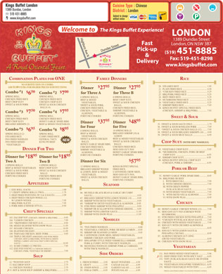 Kings Buffet London (519-451-8885) - Menu