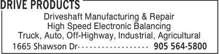 Drive Products (905-564-5800) - Annonce illustrée - Driveshaft Manufacturing & Repair High Speed Electronic Balancing Truck, Auto, Off-Highway, Industrial, Agricultural  Driveshaft Manufacturing & Repair High Speed Electronic Balancing Truck, Auto, Off-Highway, Industrial, Agricultural  Driveshaft Manufacturing & Repair High Speed Electronic Balancing Truck, Auto, Off-Highway, Industrial, Agricultural  Driveshaft Manufacturing & Repair High Speed Electronic Balancing Truck, Auto, Off-Highway, Industrial, Agricultural  Driveshaft Manufacturing & Repair High Speed Electronic Balancing Truck, Auto, Off-Highway, Industrial, Agricultural
