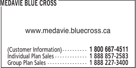 Medavie Blue Cross (1-800-667-4511) - Annonce illustrée - www.medavie.bluecross.ca www.medavie.bluecross.ca