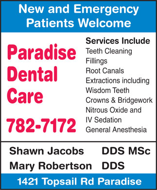 Paradise Dental Care (709-782-7172) - Annonce illustrée