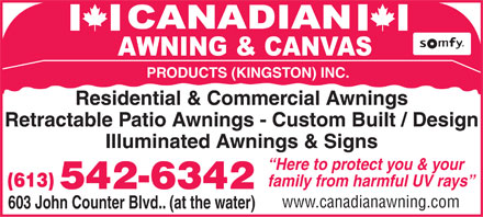 Canadian Awning And Canvas (613-542-6342) - Annonce illustrée