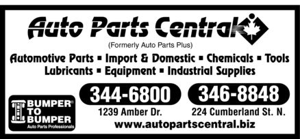 Auto Parts Central (807-344-6800) - Display Ad