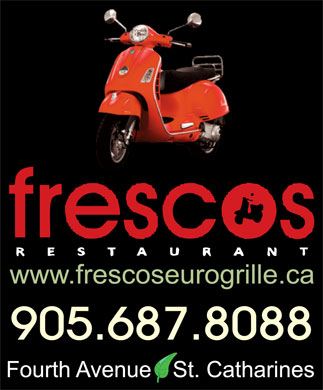 Fresco's Euro Grille (289-434-4435) - Display Ad - 905.687.8088 905.687.8088