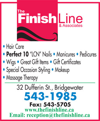Finish Line (902-543-1985) - Display Ad