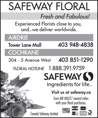 Canada Safeway Limited (1-888-391-9759) - Display Ad