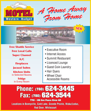 Western Budget Motel (780-624-3445) - Display Ad
