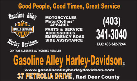 Gasoline Alley Harley-Davidson (403-341-3040) - Display Ad