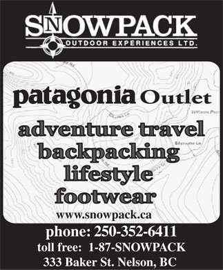 Snowpack Outdoor Experience Ltd (250-352-6411) - Display Ad