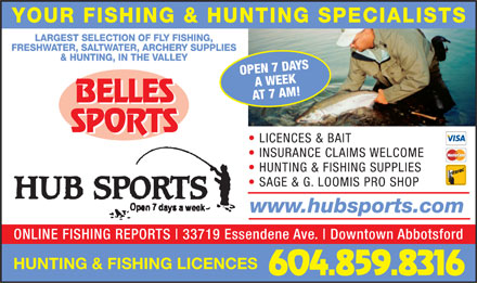 Hub Sports (604-859-8316) - Display Ad