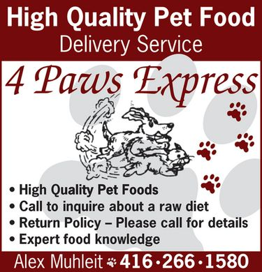 4 Paws Express (416-266-1580) - Annonce illustr&eacute;e