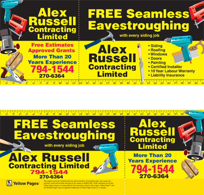 Alex Russell Contracting Limited (902-794-1544) - Deals