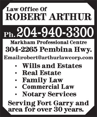 Arthur Robert Law Office (204-940-3300) - Annonce illustrée - 204-940-3300 204-940-3300 204-940-3300 204-940-3300