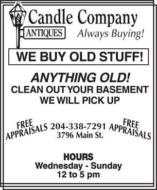 Candle Company Antiques (204-338-7291) - Display Ad
