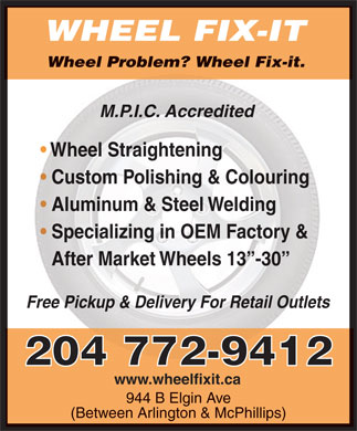 Wheel Fix-It (204-772-9412) - Annonce illustr&eacute;e