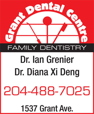 Grant Dental Centre (204-488-7025) - Annonce illustr&eacute;e