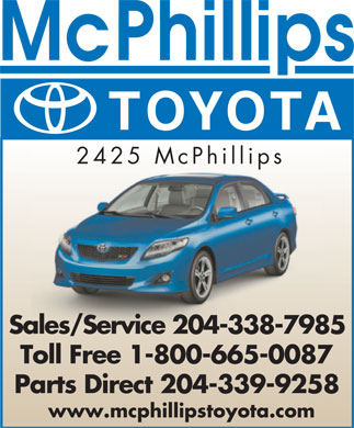 McPhillips Toyota (204-338-7985) - Display Ad