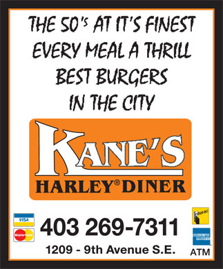 Kane's Harley Diner (403-269-7311) - Display Ad