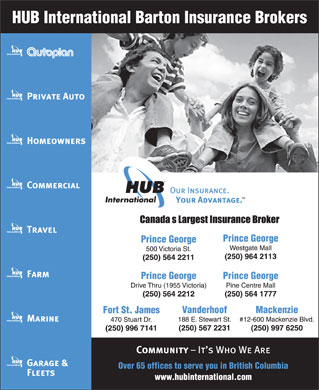 HUB International Barton Insurance Brokers (250-564-2211) - Display Ad
