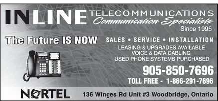 Inline Telecommunications (905-850-7696) - Display Ad - The Future IS NOW  The Future IS NOW  The Future IS NOW The Future IS NOW  The Future IS NOW  The Future IS NOW