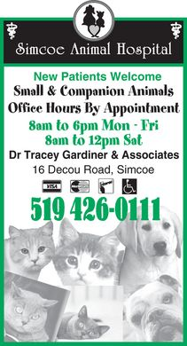 Simcoe Animal Hospital (519-426-0111) - Display Ad
