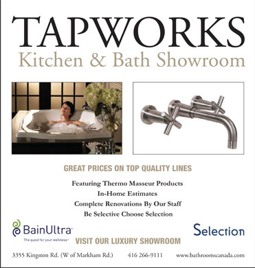 Tapworks Kitchen & Bath Ltd (416-266-9111) - Display Ad