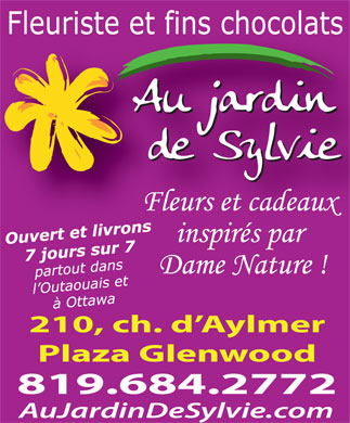 Au Jardin De Sylvie (819-412-1172) - Display Ad