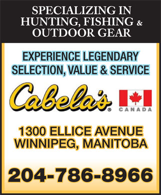 Cabela's Canada (204-786-8966) - Display Ad