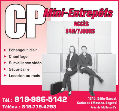 Mini-Entrepôts CP (819-986-5142) - Display Ad