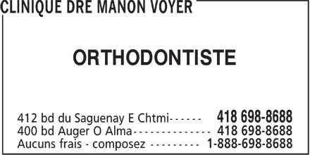 Clinique Dre Manon Voyer (418-698-8688) - Annonce illustrée - ORTHODONTISTE ORTHODONTISTE ORTHODONTISTE ORTHODONTISTE ORTHODONTISTE ORTHODONTISTE ORTHODONTISTE ORTHODONTISTE ORTHODONTISTE ORTHODONTISTE
